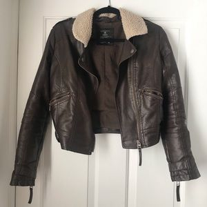 Timing | Faux Leather Jacket